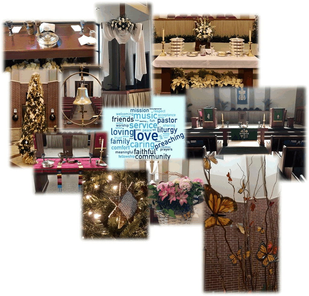 photo collage of church