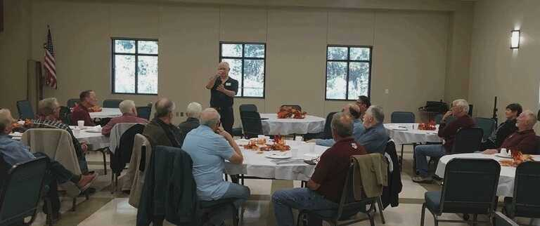 History of Baytown Present at a Men's Breakfast