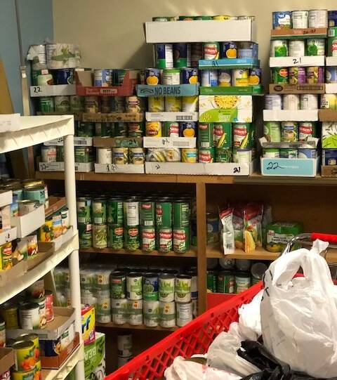 Food Pantry after 2020 Food Drive