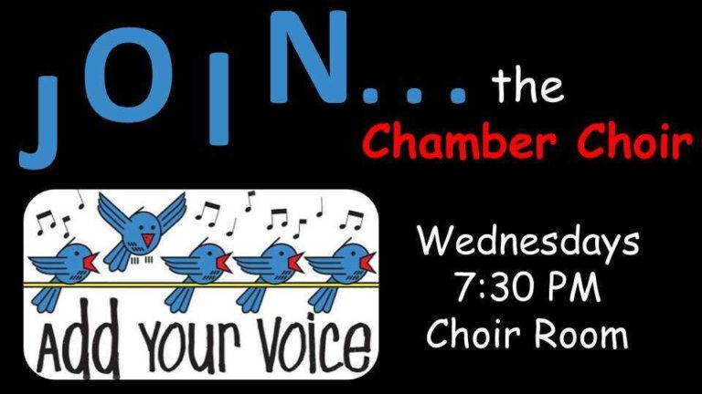 Join the Chamber Choir slide